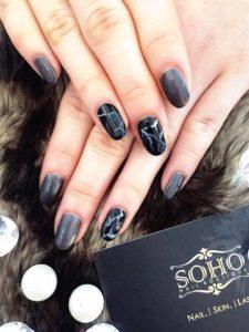 Nail_Salon_Soho_manicure_pedicure_kitsilano_vancouver_Black Marble