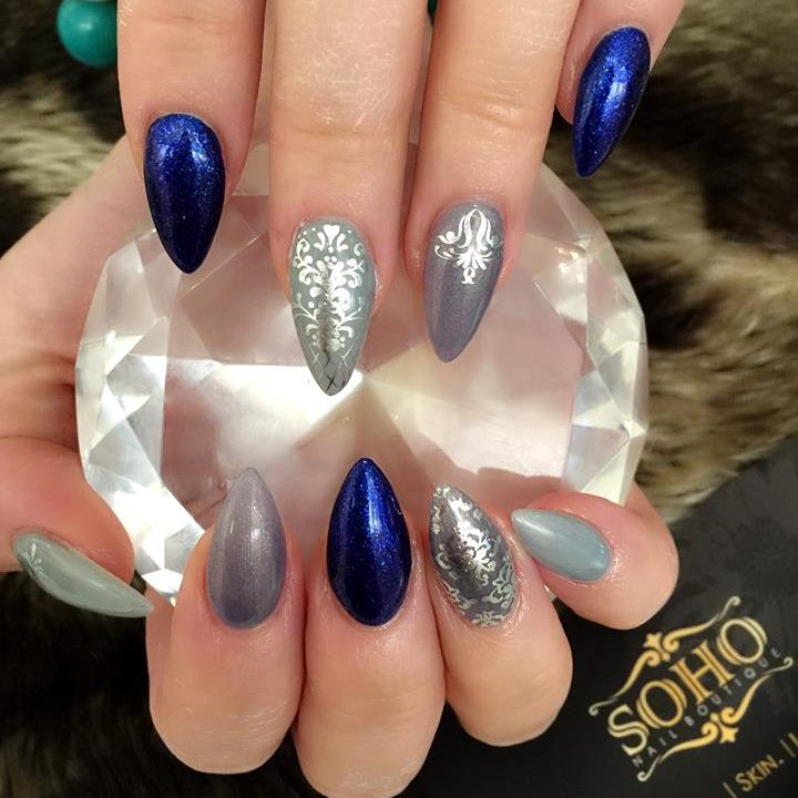 Nail Salon Soho Manicure Pedicure Kitsilano Vancouver Blue Claws With Imprint