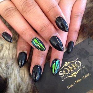 Nail_Salon_Soho_manicure_pedicure_kitsilano_vancouver_Glossy_black_hologram