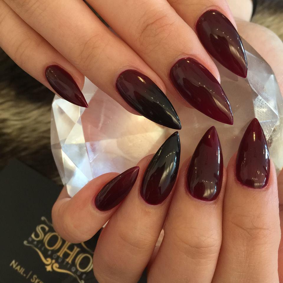 Nail Salon Soho Manicure Pedicure Kitsilano Vancouver Red To Black Claws