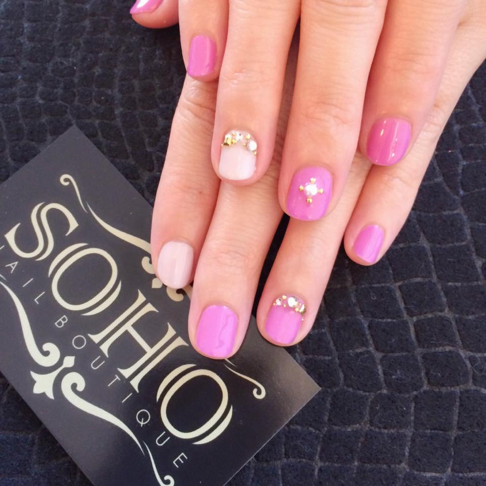 soho nail salon vancouver miki pink stone gelsoho beauty