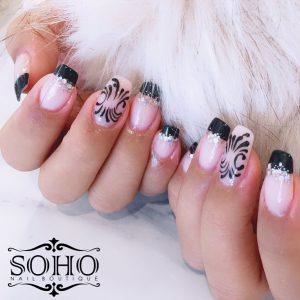 Nail_Salon_Soho_manicure_pedicure_kitsilano_vancouver_Nude Print