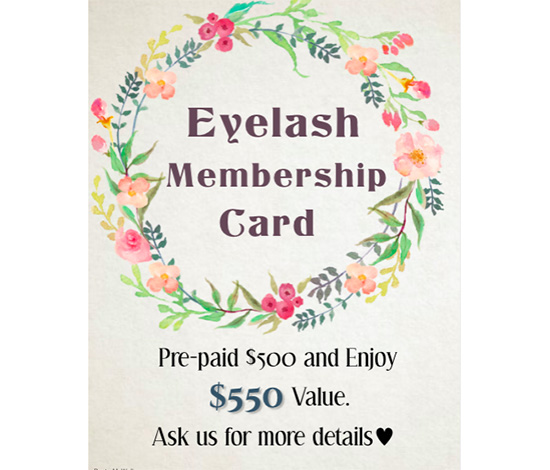 Eye Lash Membership